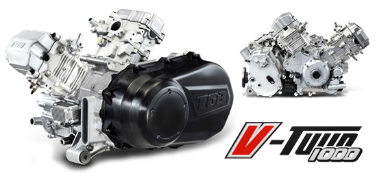 Powerful V-Twin 1000 EFI engine